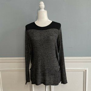 Hard Tail Forever Tunic Top Knit Long Sleeves Pock